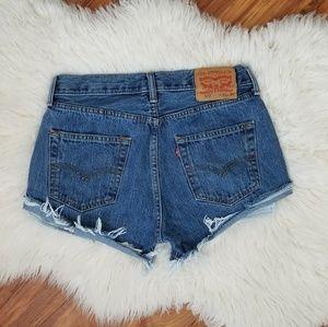 Vintage 501 Levi's cut off shorts